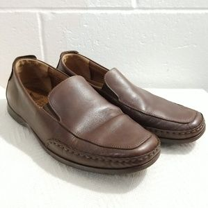 MEPHISTO Cool Air brown leather slip-on loafers